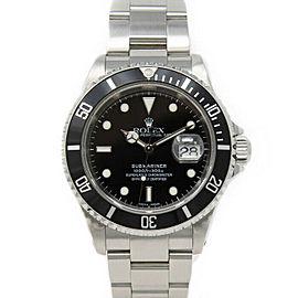 Rolex Submariner 16610 Men's Stainless Steel Automatic Black 1 Year Warranty