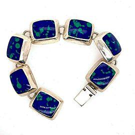 925 Sterling Silver Blue Gemstone Bracelet