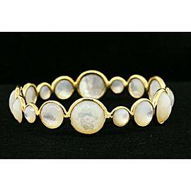 "Ippolita Lollipop Bangle Bracelet Mother of Pearl 18k Yellow Gold 7.25"" $5595"
