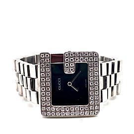 Gucci 3600M G Diamond Bezel Stainless Steel Mens Watch