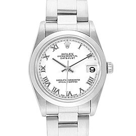 Rolex Datejust 31 Midsize White Roman Dial Steel Ladies Watch 78240