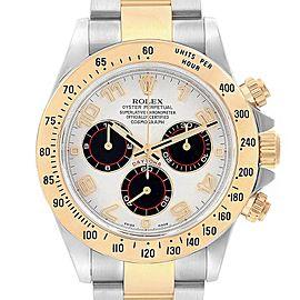 Rolex Daytona Panda Dial Steel Yellow Gold Chronograph Mens Watch 116523