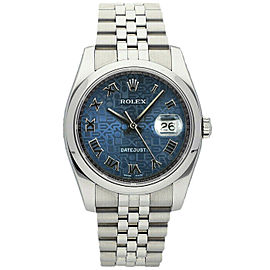 Rolex Datejust 36mm 116200 Unisex Stainless Steel Automatic Blue 1 Year Warranty
