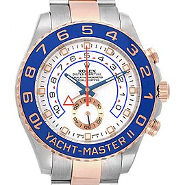 Rolex Yachtmaster II Stainless Steel 18k Rose Gold Mens Watch 116681