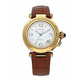 Cartier Pasha de Cartier 1035 18K Yellow Gold Mens Watch