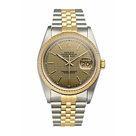 Rolex Datejust 16233 Honeycomb Dial Men's Watch