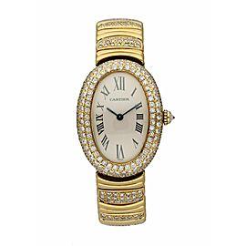 Cartier Baignoire 1954 18K Yellow Gold Diamond Ladies Watch