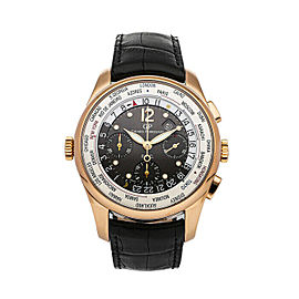 Girard Perregaux Ref 49805 WWTC World Timer 18K Rose Gold Watch Box Paper 43mm