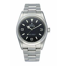 Rolex Explorer 114270 Stainless Steel Engraved Rehaut Men's Watch