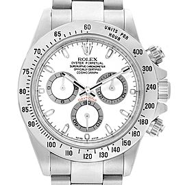 Rolex Cosmograph Daytona 40 White Dial Chrono Steel Mens Watch 116520
