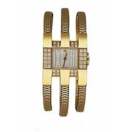 Van Cleef & Arpels 25X28MM 18K Yellow Gold Women's Watch