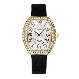 Franck Muller Heart To Heart 5002L QZ D2 18K Yellow Gold Diamonds Women's Watch
