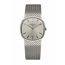 Patek Philippe Calatrava 3544-1 Vintage 18K White Gold Men's Watch