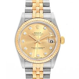 Rolex Datejust Midsize Steel Yellow Gold Diamond Ladies Watch 78273