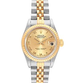 Rolex Datejust Steel Yellow Gold Roman Dial Ladies Watch 79173