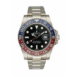 Rolex 116719 GMT-Master II 18K White Gold Pepsi Ceramic Bezel Men's Watch
