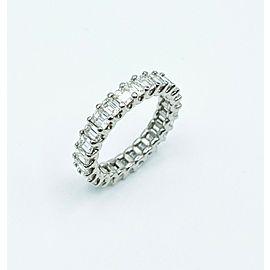 3.00ctw Emerald Diamond Eternity Band Ring 18K White Gold