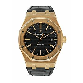Audemars Piguet Royal Oak 15400OR 18k Pink Gold Mens Watch Box & Papers