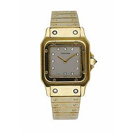 Cartier Santos Galbee 18K Yellow Gold Factory Diamond Dial Automatic Men's Watch