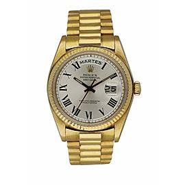 Rolex Day Date 1803 18K Yellow Gold Buckley Dial Vintage Men's Watch