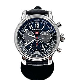 Chopard 1000 Miglia Ref 8580 Stainless Steel Chronograph Watch Leather Band