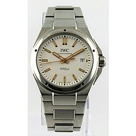 IWC INGENIEUR IW323906 MENS AUTOMATIC ROSE GOLD HANDS MARKER STEEL WATCH PAPERS