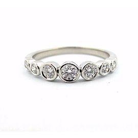 Tiffany & Co Platinum Tiffany Jazz Graduated Diamond Band Ring .31CT Size 8