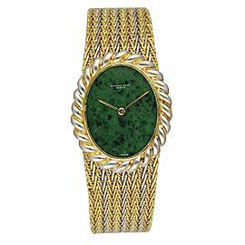 Audemars Piguet Jade Dial 18K Yellow Gold Ladies Watch