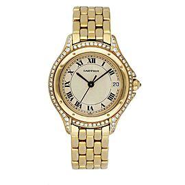 Cartier Panthere Cougar 887907 18K Yellow Gold & Diamond Ladies Watch