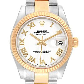 Rolex Datejust Midsize 31 Steel Yellow Gold Ladies Watch 178273 Box Card