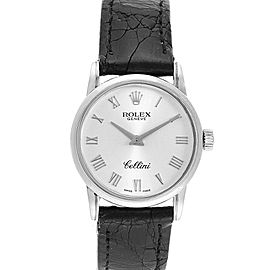 Rolex Cellini Classic White Gold Silver Dial Ladies Watch 6111 Box Card