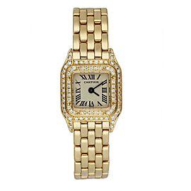 Cartier Panthere Mini 1131-1 18K Yellow Gold & Diamond Set Ladies Watch