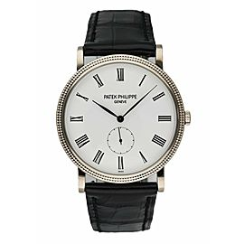 Patek Philippe Calatrava 5119G 18K White Gold Men's Watch Box & Papers