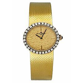 Baume & Mercier 18K yellow gold Factory Diamond Bezel Ladies Watch