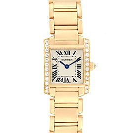 Cartier Tank Francaise 18K Yellow Gold Diamond Ladies Watch WE1001R8