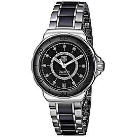 TAG HEUER FORMULA 1 WAU2210.BA0859 DIAMOND BLACK CERAMIC LADIES AUTOMATIC WATCH