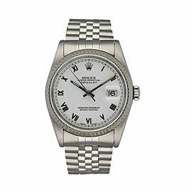 Rolex Datejust 16234 White Dial Men's Watch