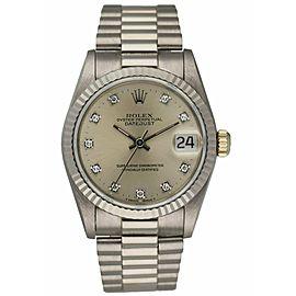 Rolex Datejust 68279 Diamond Dial & 18K White Gold Ladies Watch