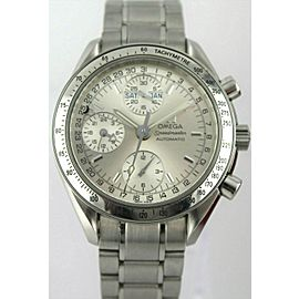 OMEGA SPEEDMASTER 3523.30 AUTOMATIC CHRONOGRAPH TRIPLE DATE MEN'S SILVER WATCH