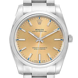 Rolex Oyster Perpetual White Grape Dial Steel Watch 114200 Unworn
