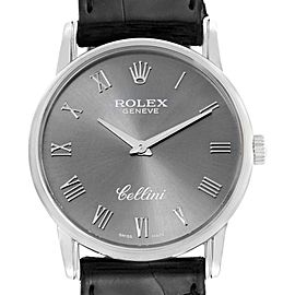 Rolex Cellini Classic Slate Dial White Gold Mens Watch 5116 Box Papers