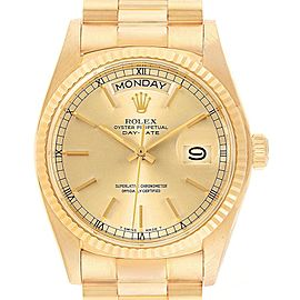 Rolex President Day-Date Mens 18k Yellow Gold Mens Watch 18038