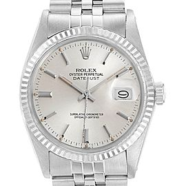 Rolex Datejust 36 Vintage Steel White Gold Automatic Mens Watch 16014