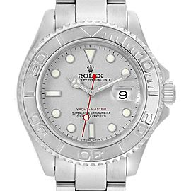 Rolex Yachtmaster 40mm Steel Platinum Mens Watch 16622 Box