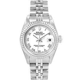 Rolex Datejust 26 Steel White Gold Roman Dial Ladies Watch 79174