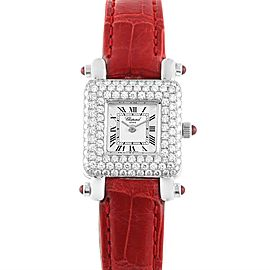 Chopard Happy Sport 18K White Gold Diamond Ladies Watch 419-1