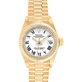 Rolex Datejust 26mm 18K Yellow Gold White Dial Ladies Watch 6917