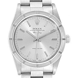 Rolex Air King Silver Dial Oyster Bracelet Steel Mens Watch 14010