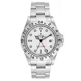 Rolex Explorer II White Dial Red Hand Steel Mens Watch 16570