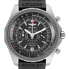 Breitling Bentley Super Sports Rubber Strap Mens Watch E27365 Box Papers